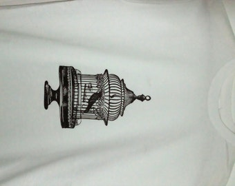 Black Bird in Cage T-shirt