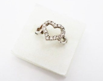 Silver Crystal Heart Ring