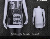 Karl Lagerfeld German Fashion Designer Artist Creative Director Women's T-Shirt