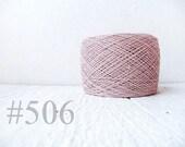 Laceweight Linen yarn - grey pink 506