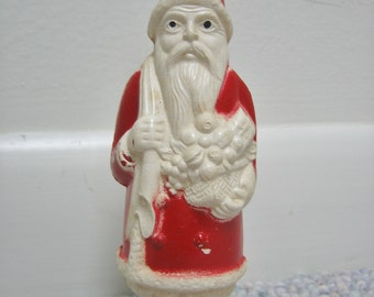 Vintage Santa Claus Celluloid Plastic Irwin Made in USA