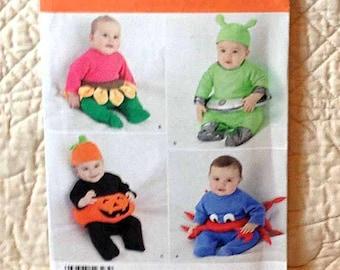 Baby Costumes Pattern Pumpkin Flower Crab Simplicity 2323
