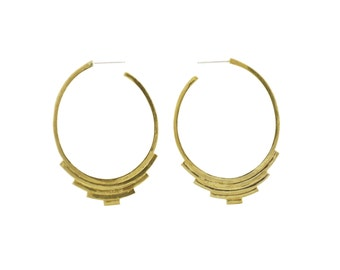 Progression Hoops, Hoop Earrings, Oval Hoop Earrings, Geometric Earrings, Big Hoop Earrings, Silver Hoops, Gold Hoops, Statement Earrings