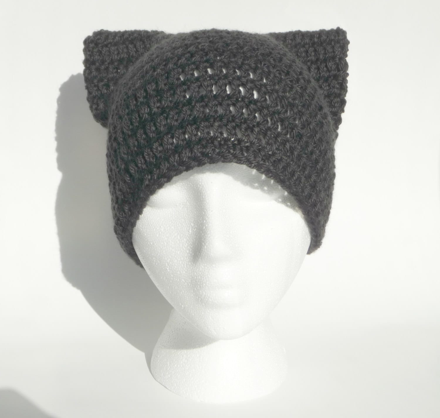 Knitting Pattern Hat With Dog Ears : Baby Cat Hat Crochet Cat Hat Knit Cat Hat Cat Ear Hat Cat