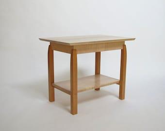 Small Coffee Table With Shelf Narrow Coffee Table Modern Wood Coffee Table Handmade
