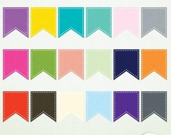 Digital Scrapbooking Flags - Instant Download - Clip Art ClipArt Scrapbooking Commercial Instant Download & Printable G2240