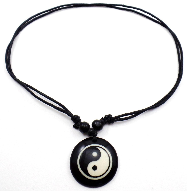 yin yang necklace ying yang pendant tao necklace