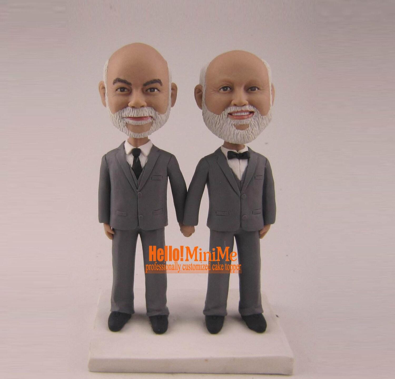 same sex cake topper bobblehead custom gay wedding cake topper. Black Bedroom Furniture Sets. Home Design Ideas