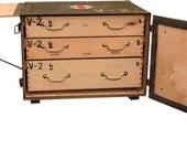 FREE shipping for Vintage Portable Wood Green Desk Chest With Surprises!