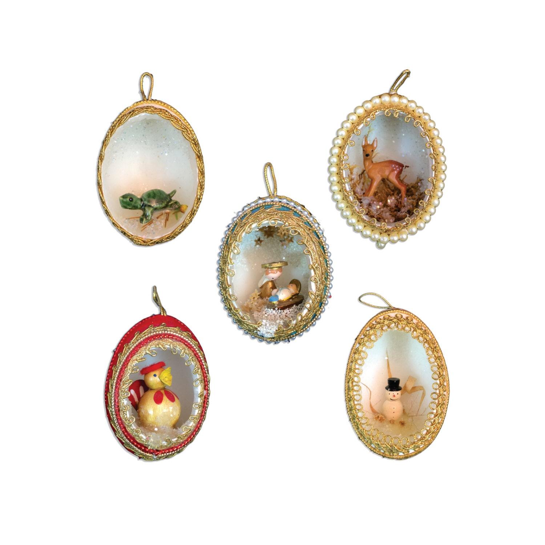 handmade retro christmas ornaments