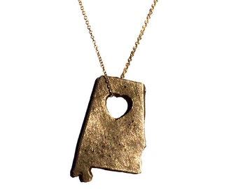 ALABAMA Bronze state necklace States jewelry States of Love