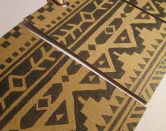 Aztec Gift Tag // Recycled Gift Tags