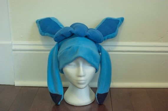 glaceon fleece hat by - photo #13