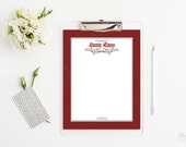 Letter from Santa Printable letter head Printable stationery From the desk of Santa Claus Instant Download Word