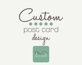 Custom post card design Custom postcard design JPG PDF printable