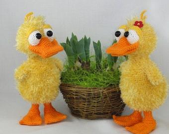 Amigurumi Crochet Pattern - Ducklas and Doris the Ducks