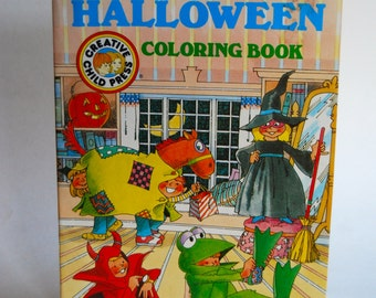 Vintage Coloring Book, Fun on Halloween by Creative Child Press