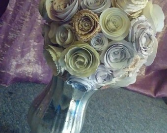 Paper Flower Centerpiece Rose Bouquet