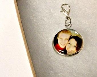Photo Clip On Charm - Buttonhole clip or Charm bracelet clip