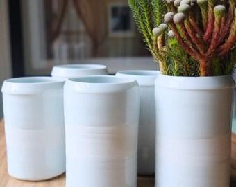 Charlotte Vase, Handmade Ceramics, White Porcelain Pottery