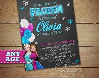 Frozen Birthday Invitation, Frozen Birthday Party, Frozen Invitation, Frozen Birthday Invitation, Digital Invitation, Photo Invitation