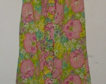 Vintage 50's/60's Floral Nightgown!  Dela-Ann Creation Loungewear!