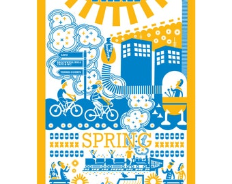 Brockwell Park card (spring)