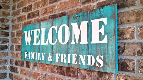 Welcome Sign, Front Porch Sign, Large Wooden Sign, Front Porch Decor, Wood Welcome Sign, Rustic Welcome Signs, More Colors To Choose From