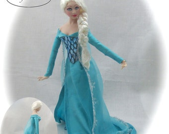 Dollhouse Doll ELSA Doll Pattern and Instructions PDF Miniature Dollhouse 1:12 Scale Instant Download Frozen Movie Magic Disney Princess