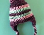 Purple & Teal Winter Hat