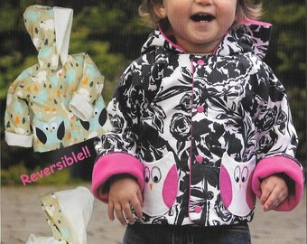Pattern - Hoodie Baby - Reversible Jacket Paper Sewing Pattern by Olive Ann Designs (OAD90)