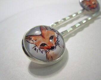 Extra Fox Silver Hairpin Set