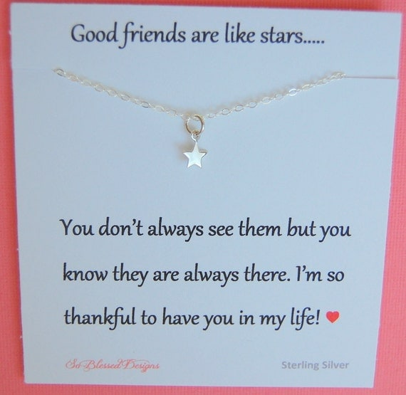 Best Friend Necklace Christmas Gift Tiny By Soblesseddesigns