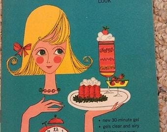 1963 Gel It! easy ways to be a spectacular cook Gelatine Cookery KNOX  Gelatine