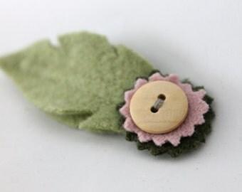 Blossom Hair Pin - Sage Green