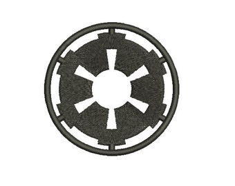 Machine Embroidery Design Instant Download - Star Wars Imperial Crest