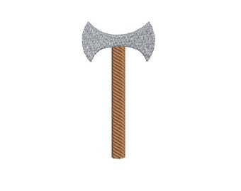Machine Embroidery Design Instant Download - Double-Edged Axe 2