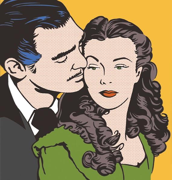 Gone With The Wind Scarlett O Hara Rhett Butler Vivien
