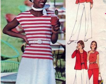 Butterick 4746 Pattern DIY Half Size Shirt, Skirt Pants Sewing Supply Pattern CUT