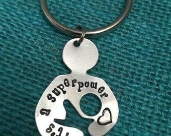Nursing Key Chain- It's a Superpower, Breastfeeding Key Chain, Breastfeeding Jewelry