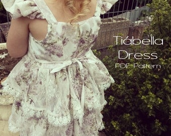 Tiabella Dress: PDF Sewing Pattern Girls Sizes 3 to 8