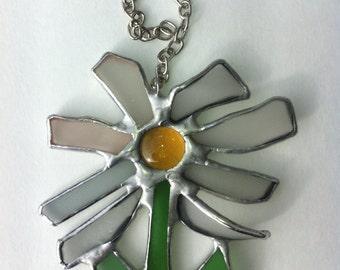 Sea glass daisy suncatcher