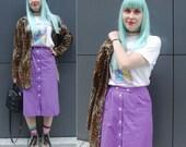 Vintage purple buttoned s...