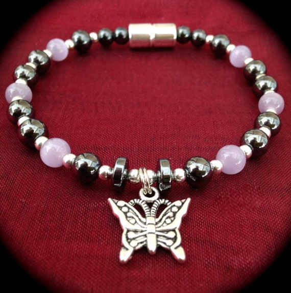 Elegant Butterfly Charm MAGNETIC Bracelet by StellaMagnetica
