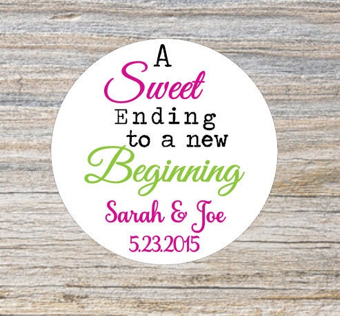 custom wedding favor stickers rustic wedding stickers sweet
