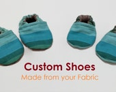 Custom Wrap Scrap Baby Shoes, Made from your wrap! Babywearing, Baby Booties, Toddler Shoes, Soft Sole Shoes