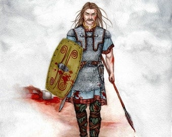 Celtic Warrior: Vercingetorix the Gaul - Art Print