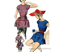1950s ADVANCE 5998 Cobbler's Garden Artist Apron PATTERN Large Pockets Size Small UNCUT Vintage Craft Sewing Patterns Easy to Sew Bust 28-30