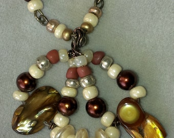 Hand made bead pendant set