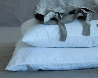 LINEN PILLOWCASE with ENVELOPE closure , housewife style pillowcase. Softened & stonewashed. Made by mooshop